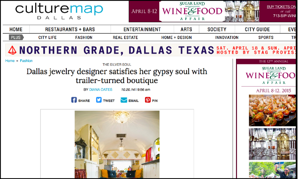 Culture Map Dallas |  Dallas Jewelry Designer