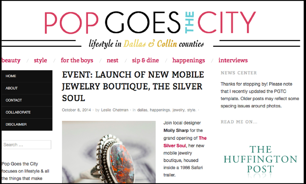 Pop Goes the City |  Launch of the New Mobile Jewelry Boutique, The Silver Soul