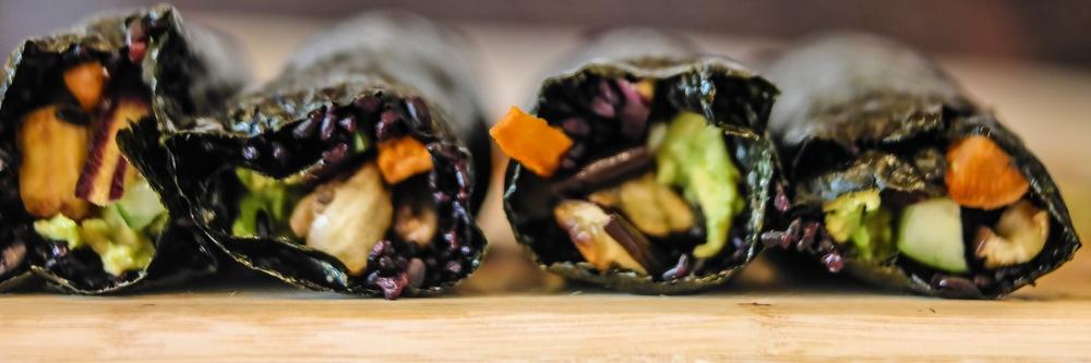 4-Forbidden-Rice-Sushi-Rolls | www.8thandlake.com