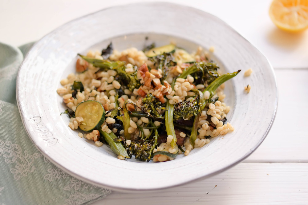 6-Warm-Winter-Salad-with-Barley-Broccolini-and-Toasted-Pecans | www.8thandlake.com