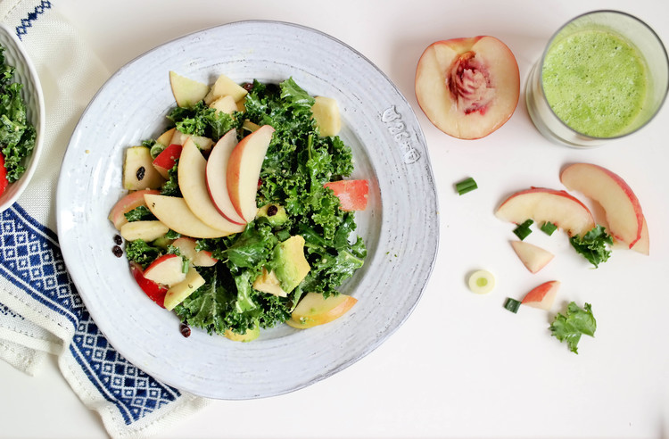 The Perfect Summer Salad with Peaches