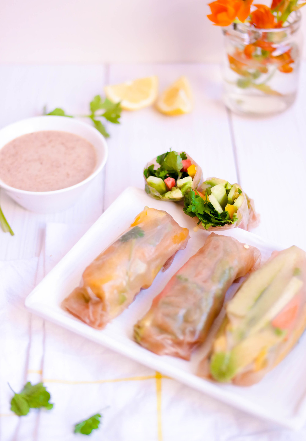 Fresh-Spring-Rolls-with-Avocado | www.8thandlake.com