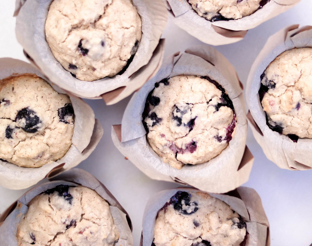 4-Blueberry-Coconut-Muffins | www.8thandlake.com
