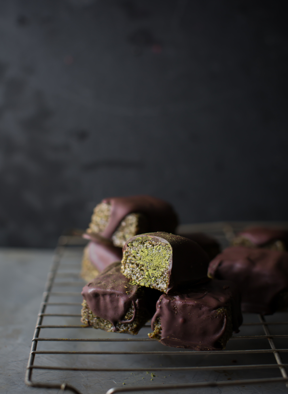 Matcha-and-chocolate- Marzipan | 8thandlake.com