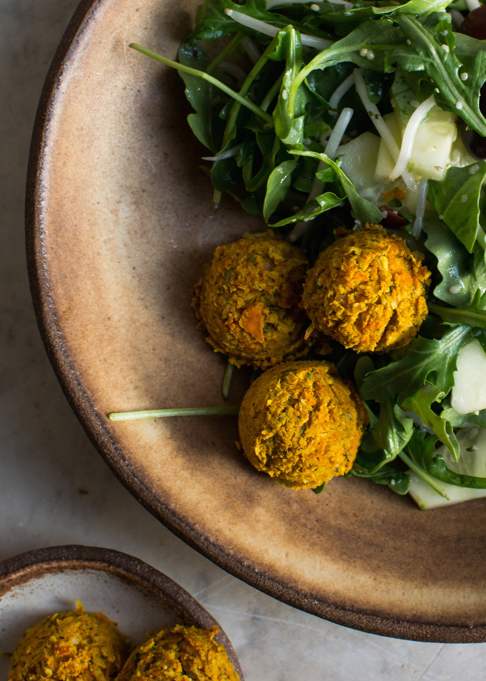 4-Sweet-Potato-and-Turmeric-Falafels-Baked | www.8thandlake.com