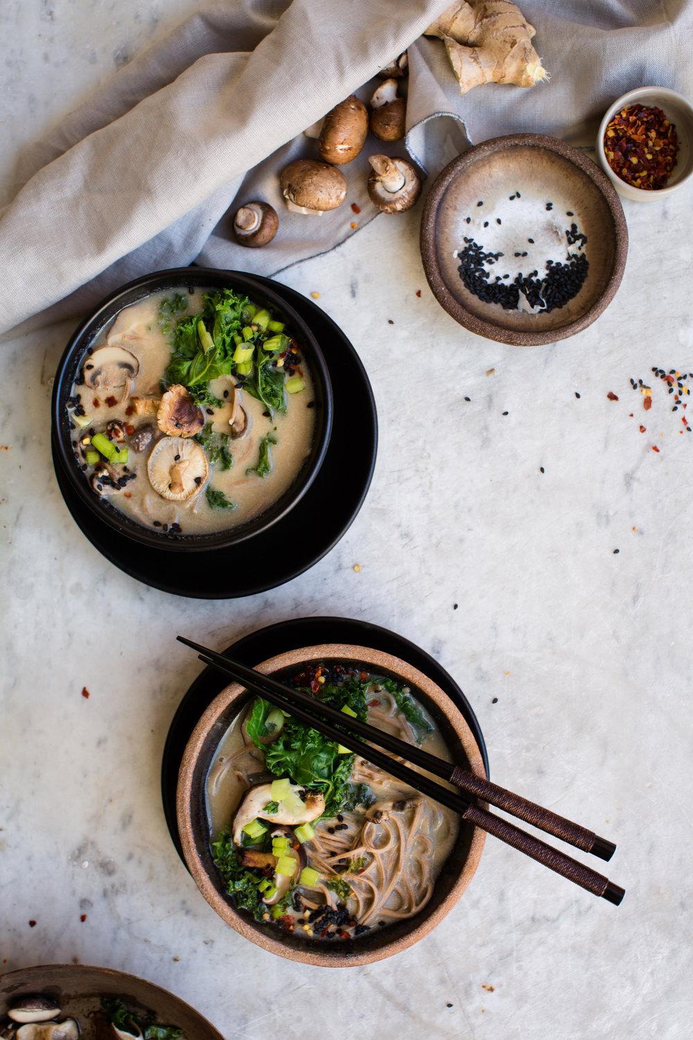 Vegetable-Miso-Soup-with-Soba-Noodles | www.8thandlake.com
