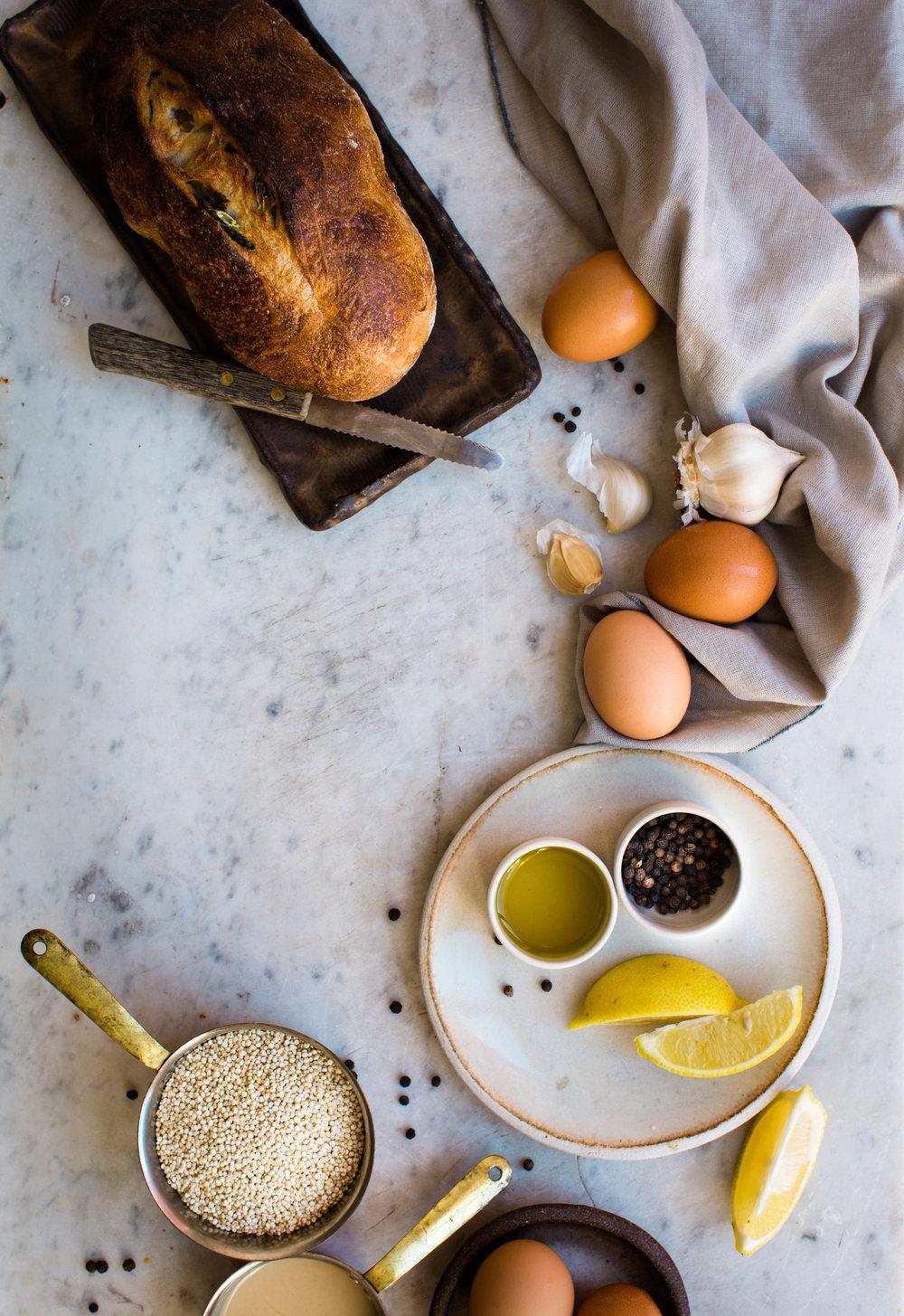 Sweet-Potato-and-Quinoa-Bowl-with-Sweet-Tahini-Dressing | www.8thandlake.com