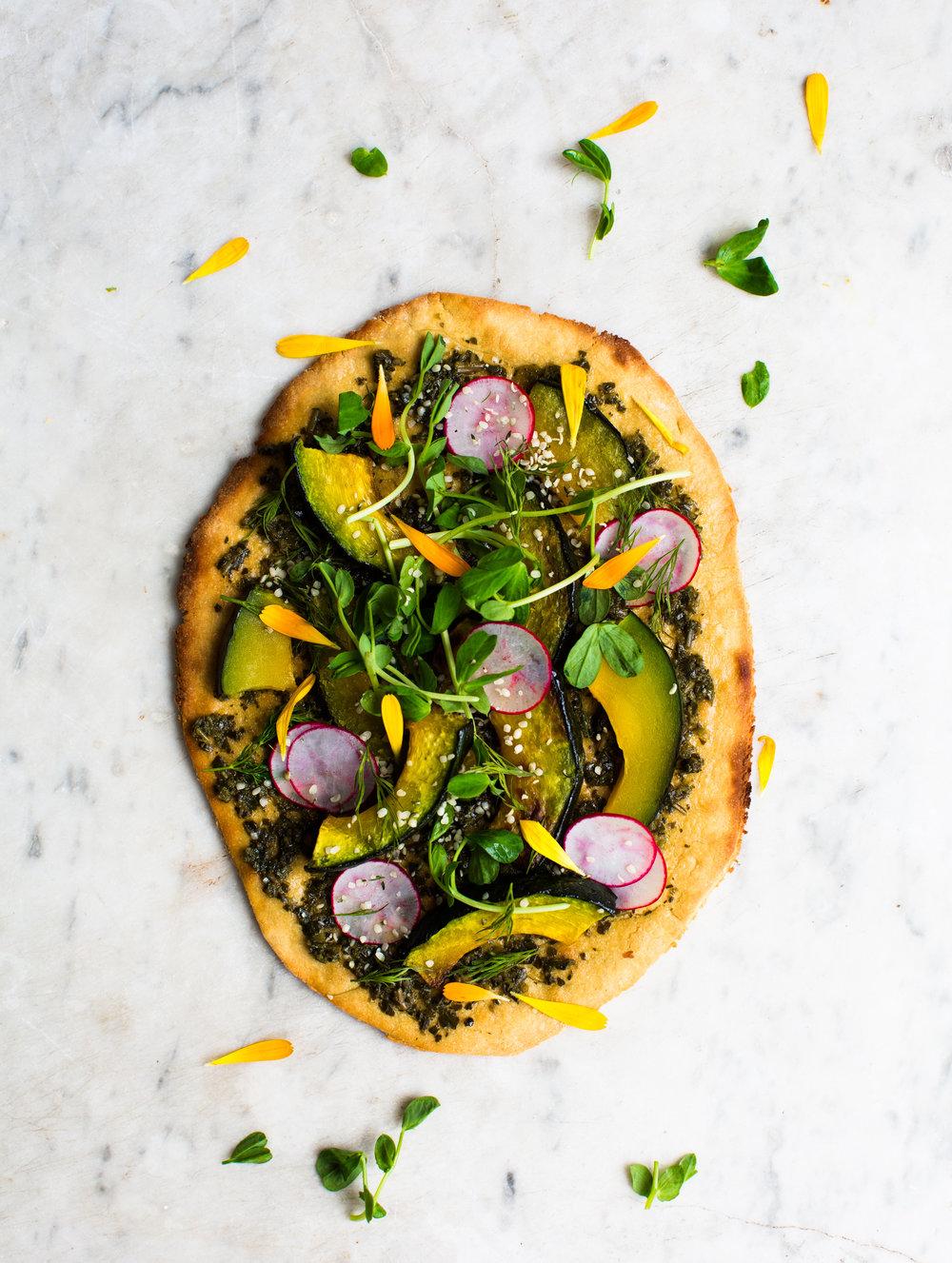 2-Spring-Pesto-Socca-Pizza | www.8thandlake.com
