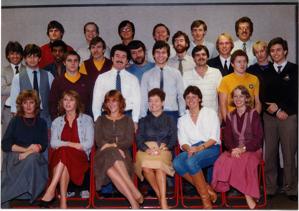 The fine folks of Atari Service, UK, circa 1983