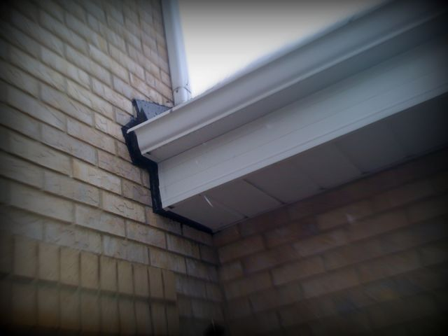 DIY while the rain stopped - sealing around leaky gutters