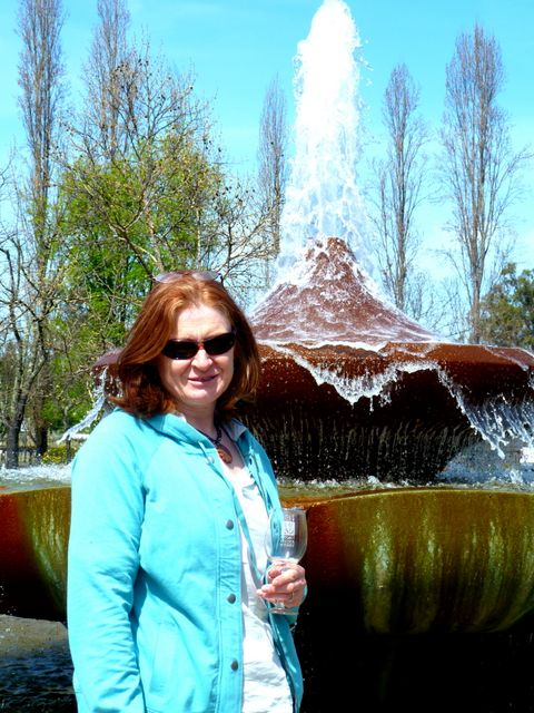 Elaine at the Franciscan winery