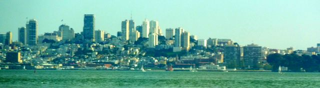 View across the bay to San Francisco from Tiburon