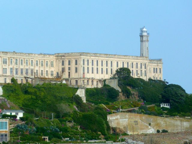 Close up of Alcatraz