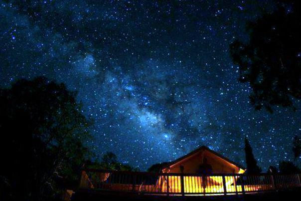 Henk - who has a serious camera - took this picture of his ranch house at night - this is more like what we could see atop Mauna Kea