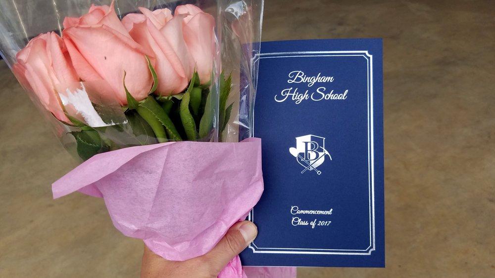 We attend Hayley Reagan's graduation