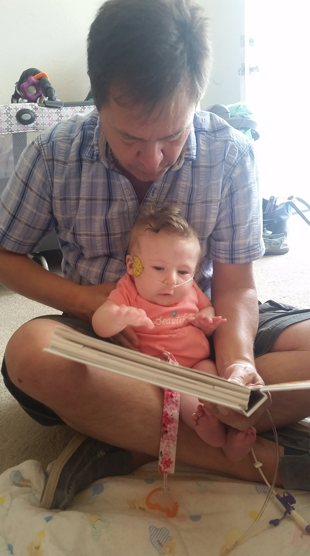 Eevee helps Jon read a book
