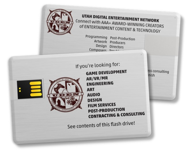 UDEN's eBrochure  - its a digital business card with a built-in flash drive and digital assets!!