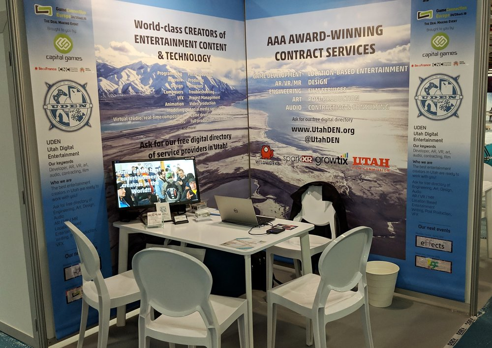 The UDEN booth at GCE18