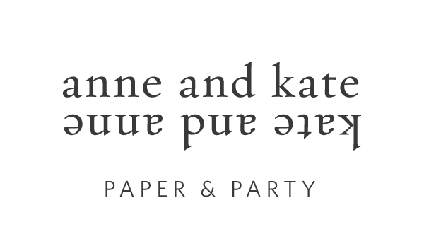 anne and kate | screen printed stationery, party goods, & custom design