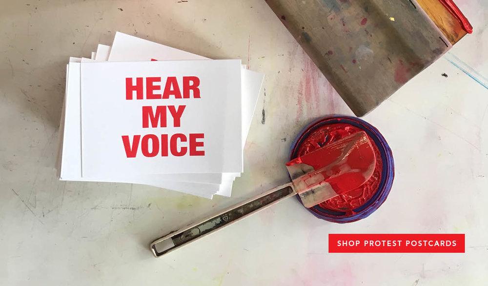 Protest Postcards