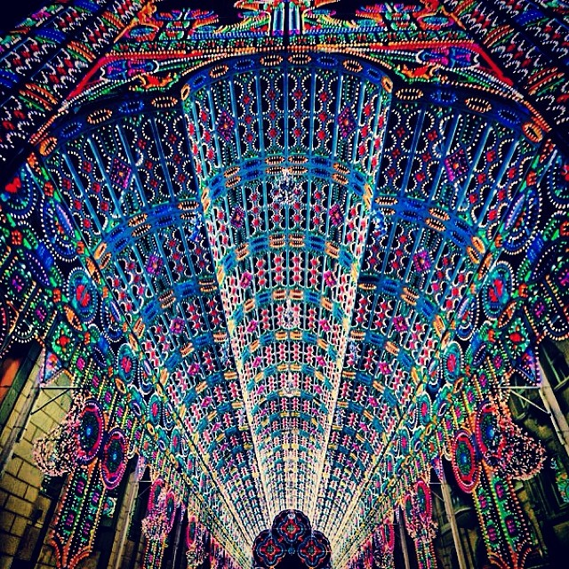 A cathedral made of 55k LED lights in Ghent, Belgium.