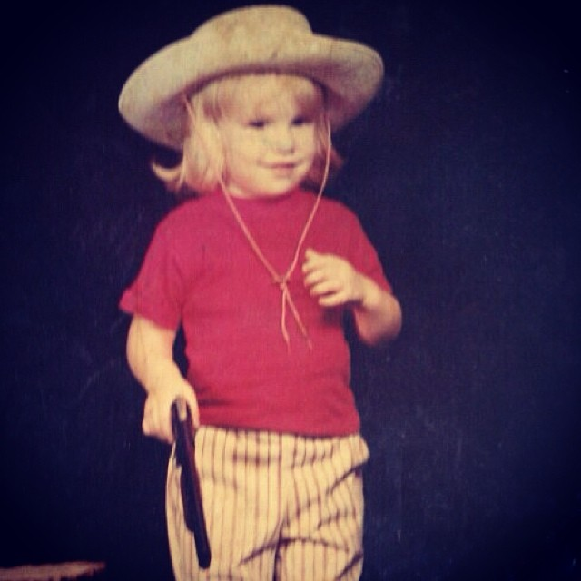 #TBT to 1977 and this four year old gunslinger. I had a lot more hair back then.