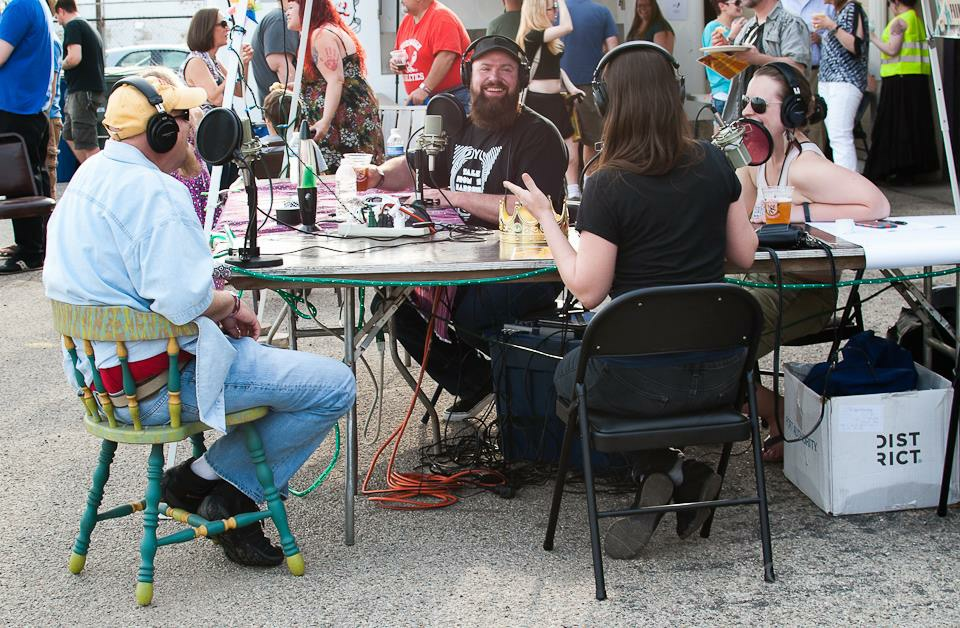 Sideshow Dayton 2015 Izzy Rock and Libby Ballengee w/ Jimmy Cummings and Kim Weiss