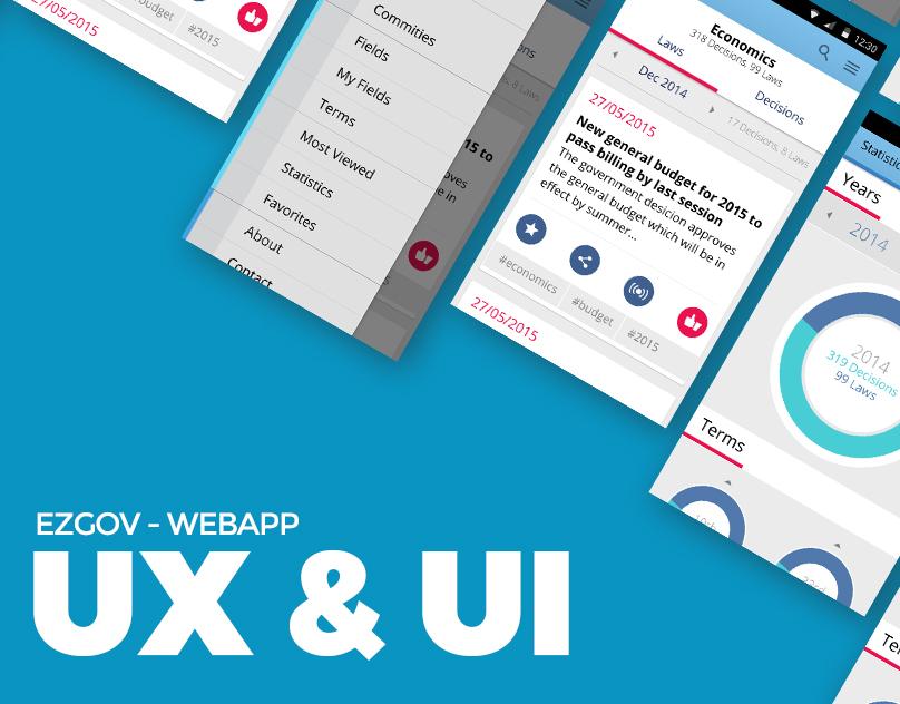 EZGOV - App design