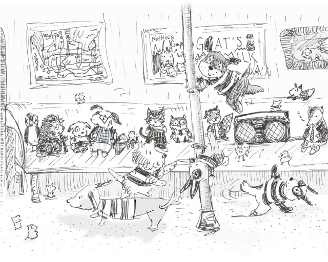 allyn_howard_sketch dancing dogs subway.jpg