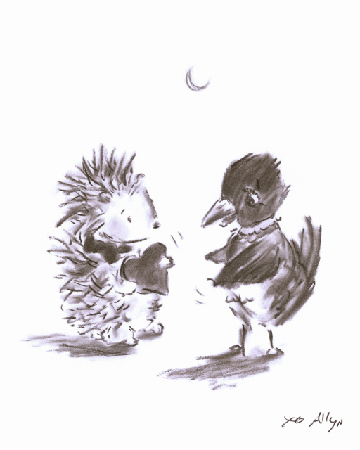 Crow_n_Hedgehog_allyn_howard_sketch.jpg