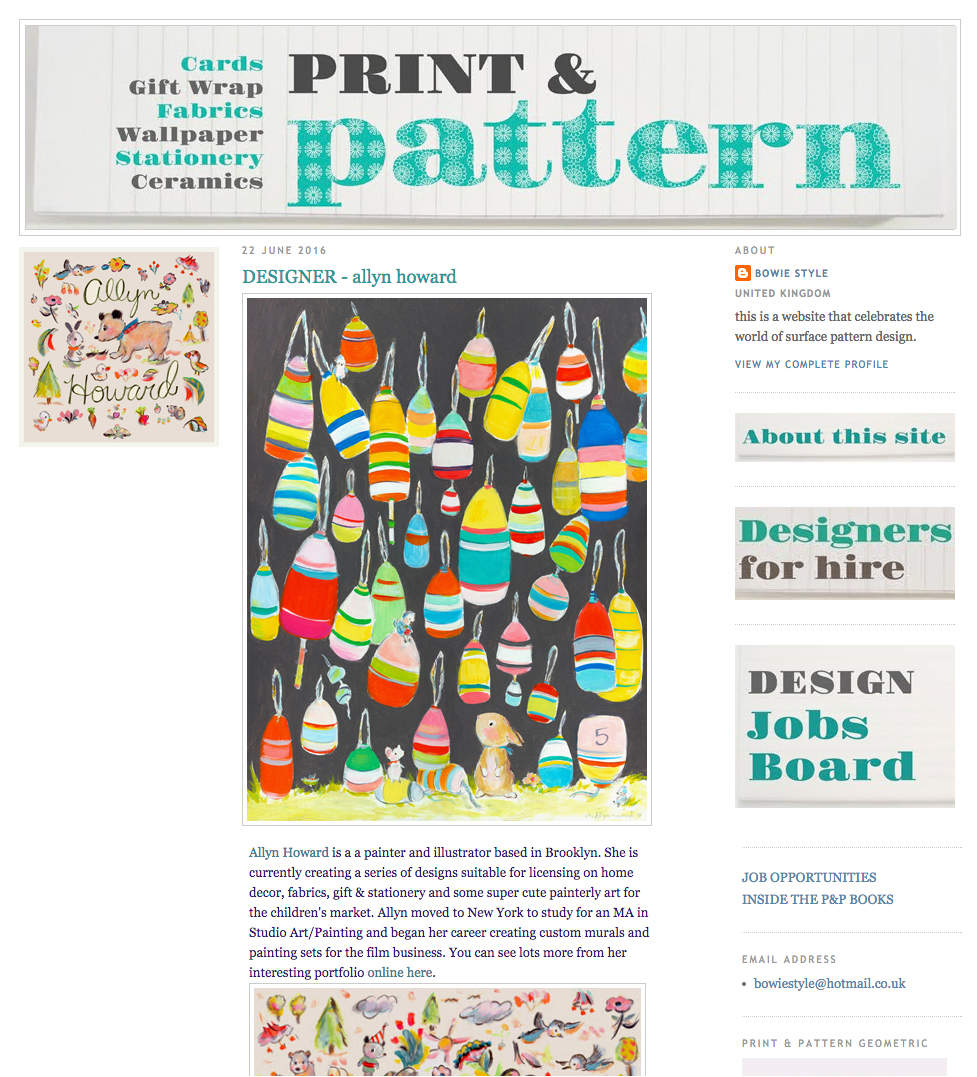 This is a screenshot, visit Print & Pattern to see the selected pieces.