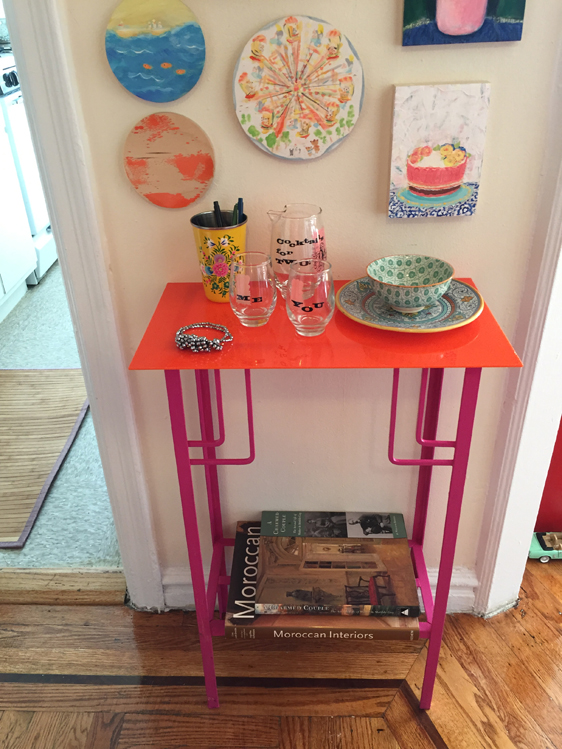Allyn_Howard_foyer_pink-orange_table_DIY.jpg