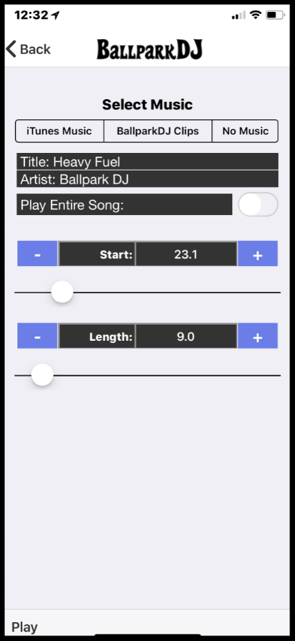 BallparkDJ - Edit Music