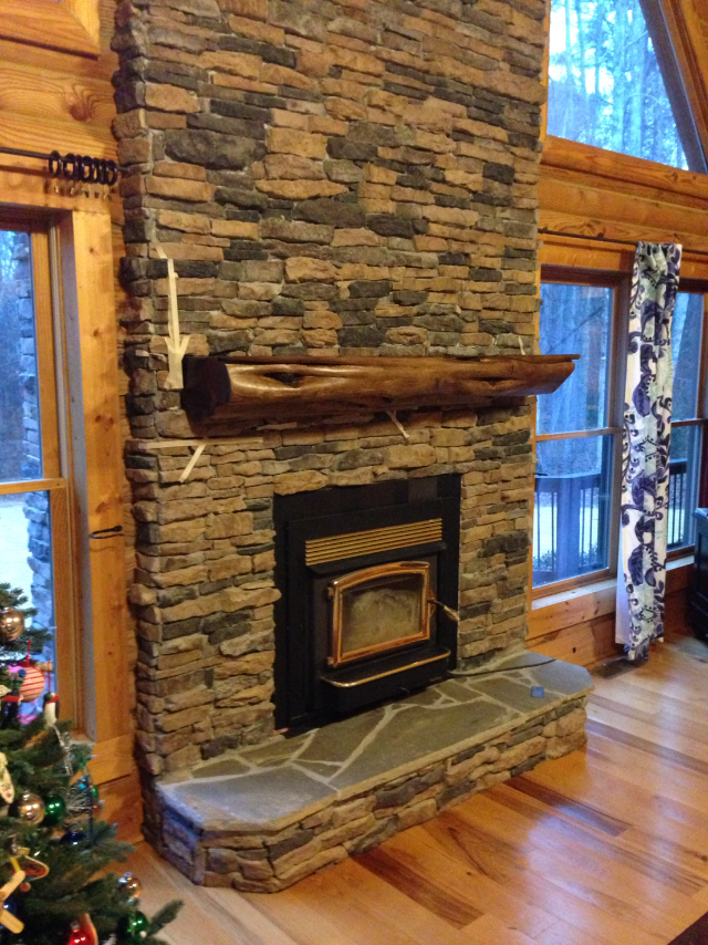 A custom cedar mantel is an attractive addition to almost any fireplace setting. Seeour  Facebook  page to find out how how our mantels are crafted and for more examples of our work.