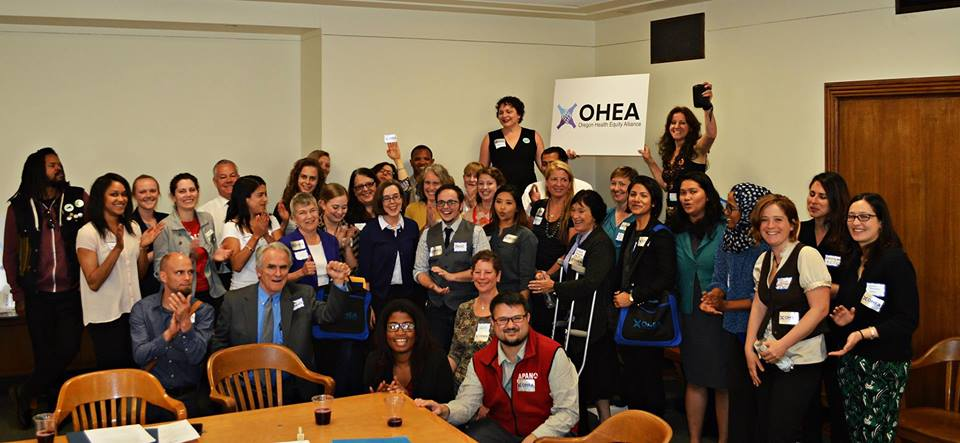NARAL Pro-Choice Oregon joining OHEA to lobby on Fair Shot issues.