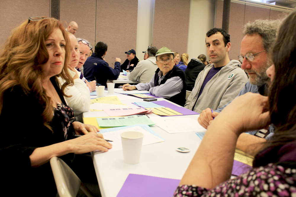 SEIU Local 503 members prepare for a lobby day in Salem, Oregon.