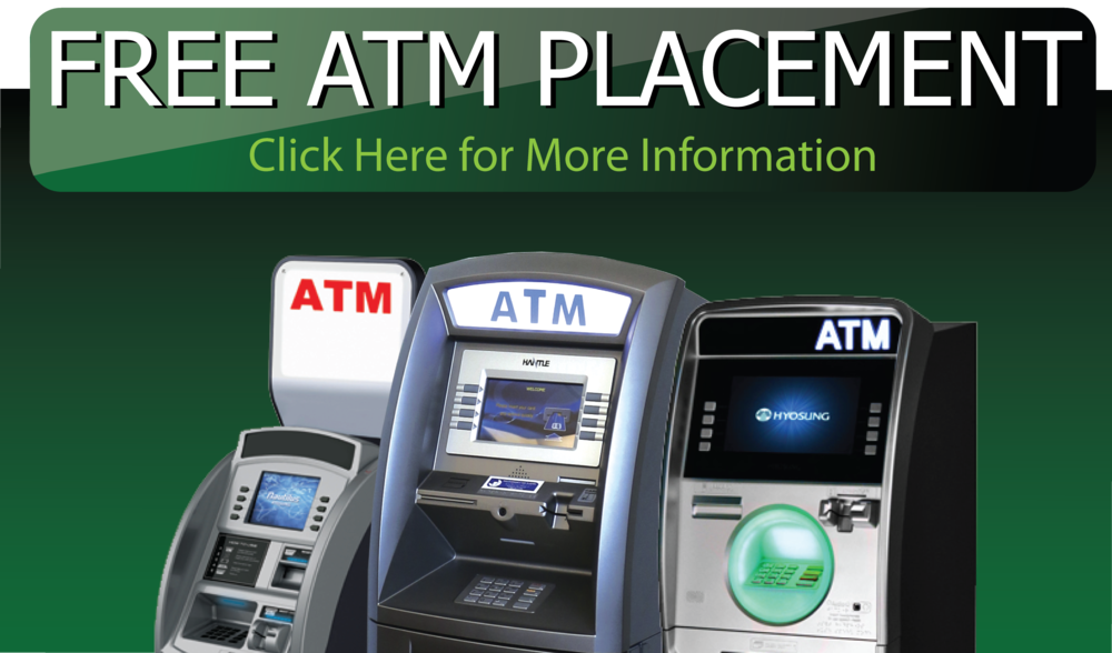 The benefits of having an ATM Machine are many. More cash sales means fewer fees from credit cards and debit cards. ATM's are a value added service for your customers. ATM Machines are an expected service for many industries, such as convenience stores or mini-marts. If you want the benefits of having an ATM in your business without the expense of buying or the time and service required, this is a great option.