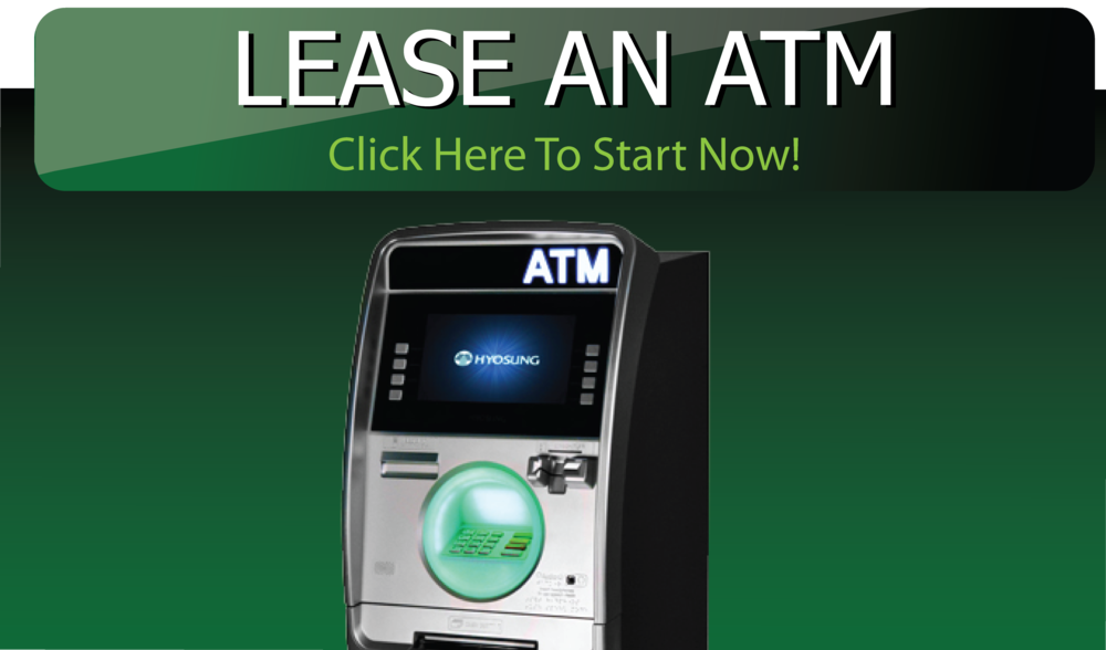 International Cash Systems offers two options for owning your own ATM Machine. You can simply buy the ATM Machine or if you prefer, a lease-to-own option is available. Whether you buy or lease -to-own your ATM Machine, you are able to determine the surcharge amount and will keep 100% of that surcharge.
