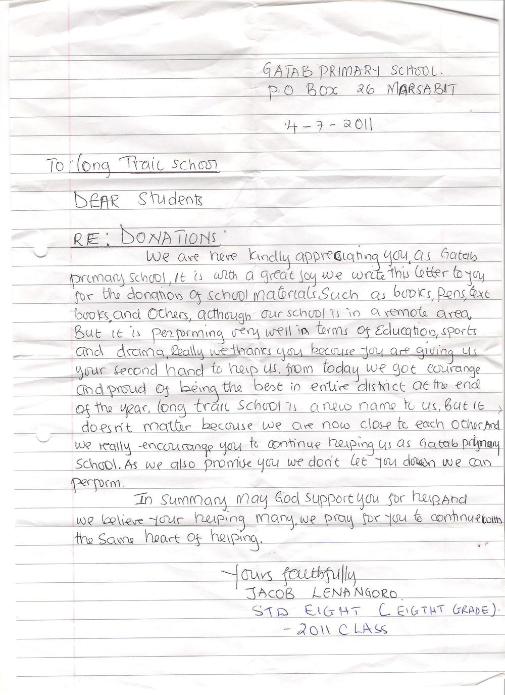 Letter to Long Trail School.jpg