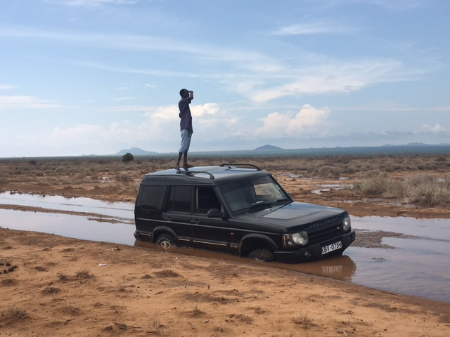 Sokotey on top of vehicle.JPG