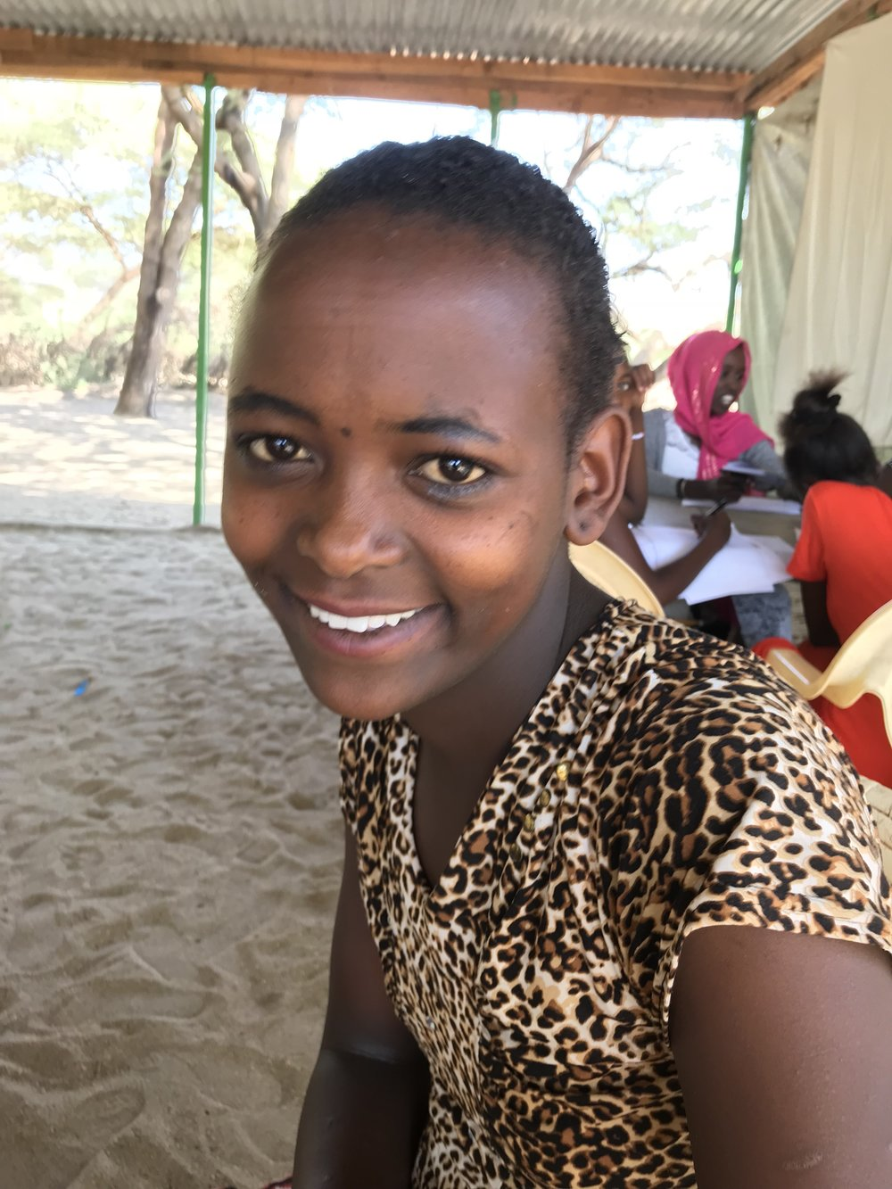 Sarafina - Sarafina is from Samburu, Kenya. She lives with her mother and is the third born of her siblings. Sarafina has three sisters and four brothers.