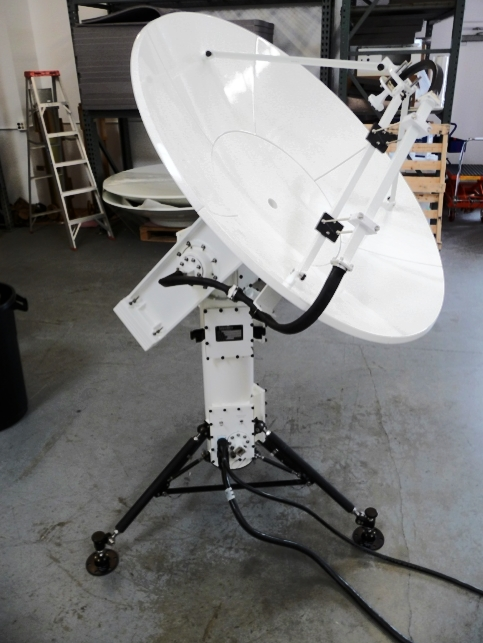 PD300, Portable Pedestal, with 4 foot reflector payload.