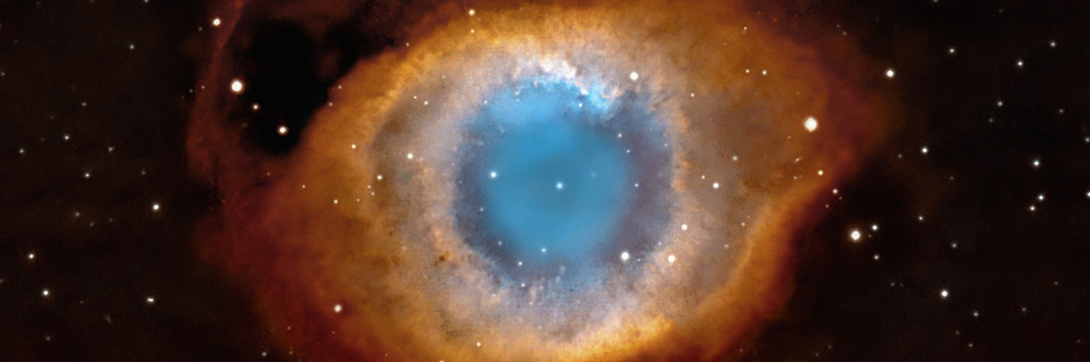 The Helix Nebula, as photographed by the Hubble Space Telescope
