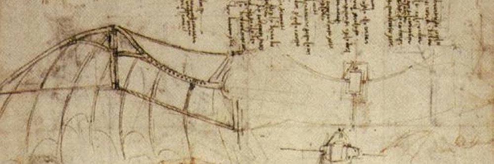 An ornithopter design by Leonardo da Vinci