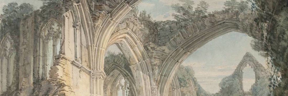 'Tintern Abbey: The Crossing and Chancel, Looking towards the East Window,' by Joseph Mallord William Turner, 1794