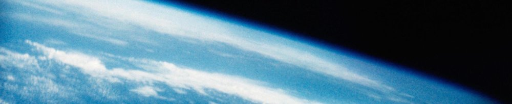 The first American view of Earth from space, taken aboard the Freedom 7 capsule