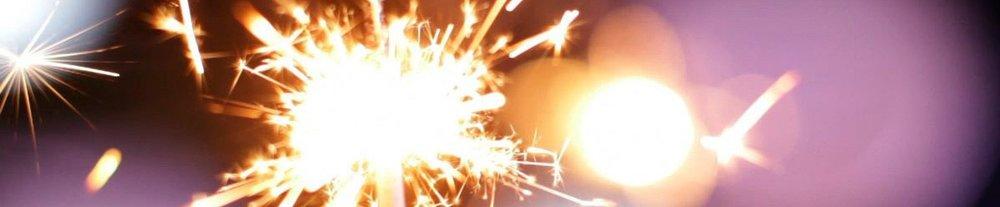 A lit sparkler