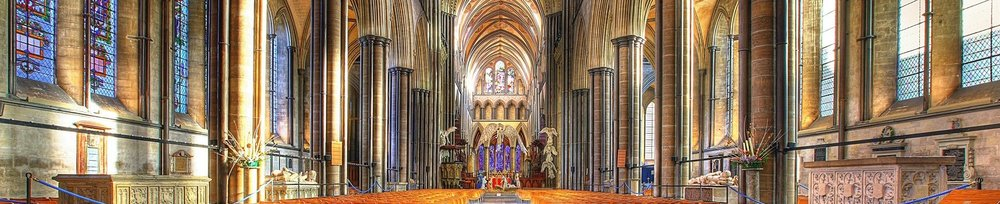 The nave at Salisbury Cathedral