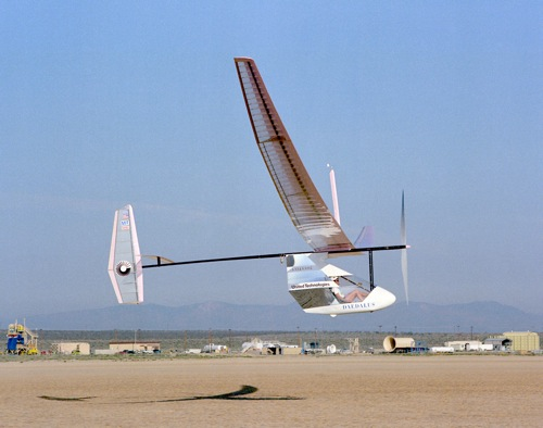 MIT's Daedalus HPA in flight at NASA's Dryden Flight Research Center, 1988