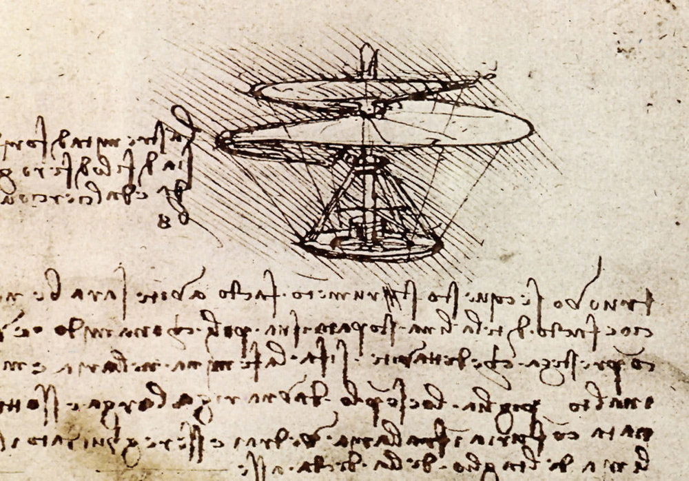 da Vinci's aerial screw
